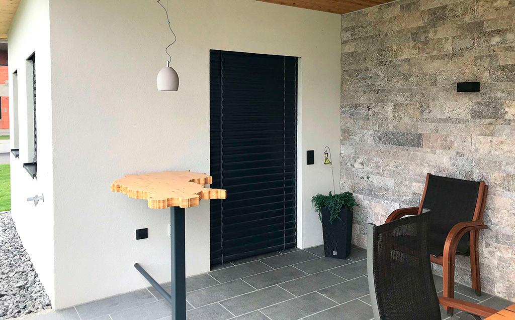 Terrasse Smart Home evon Jalousien