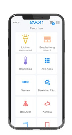 evon Smart Home Startscreen App