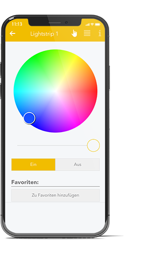 Philips hue App in evon Smart Home