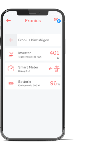 Fronius App in evon Smart Home